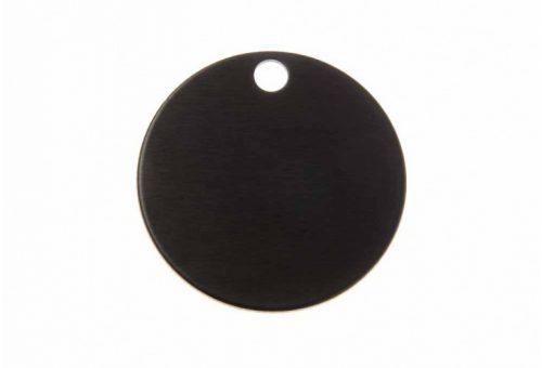 Ronde eloxiertes Aluminium, schwarz