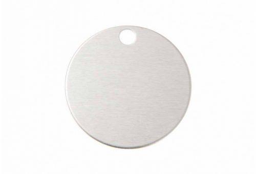 Ronde Aluminium eloxiert, silber