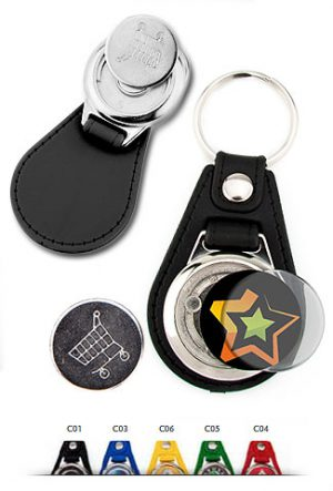 Schlüsselanhänger Kunstleder schwarz