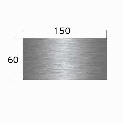 edelstahlschild 150x60mm mit Lasergravur