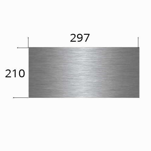 Edelstahlschild A4 - 297x210mm Laserbeschriftung