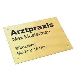 Messingschild DIN A5 210x148mm,