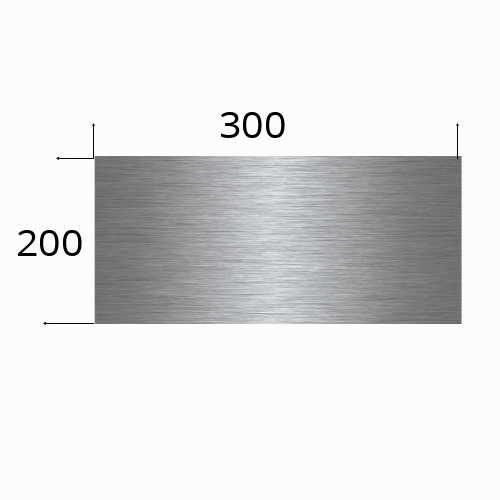 Edelstahlschild 300x200mm mit Laserbeschriftung