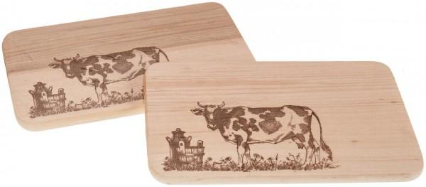 Branddruck - Motiv Kuh auf Weide