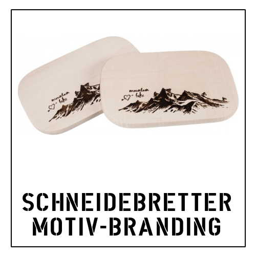 Schneidebretter mit Motiv Branding