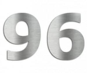 Hausnummer 6, Edelstahl - Lasergravurdienste Wenzel
