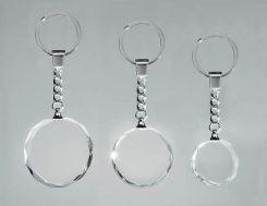 Glas Schlüsselanhänger rund