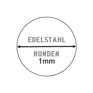 Edelstahl Ronde 1mm