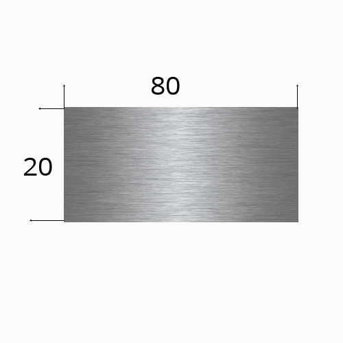 edelstahlschild 80x20mm mit Lasergravur