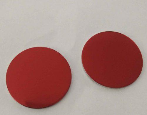 Ronde aus eloxiertem Aluminium in rot
