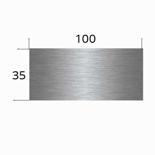 Edelstahlschild 100x35 mit Laserbeschriftung