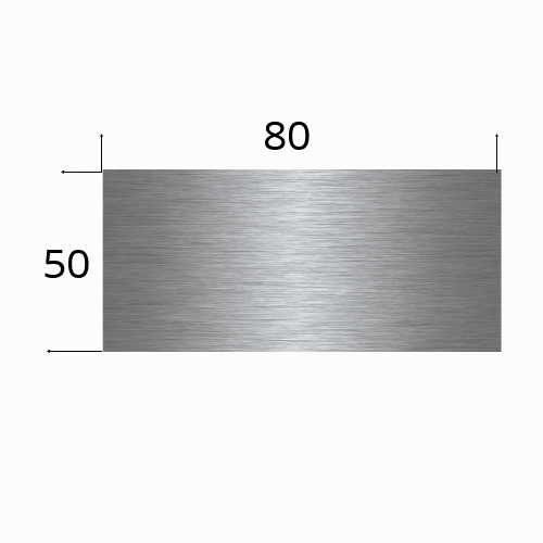 Edlestahlschild 80x50mm mit Laserbeschriftung