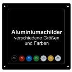 Aluminiumschilder eloxiert, verschiedene Größen und Farben