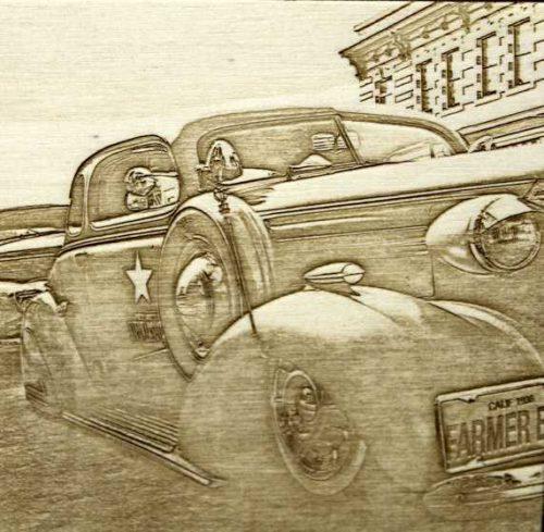 Fotogravur Oldtimer