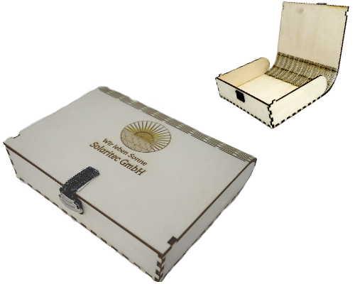 Holzbox mit Deckel und Magnetverschluß