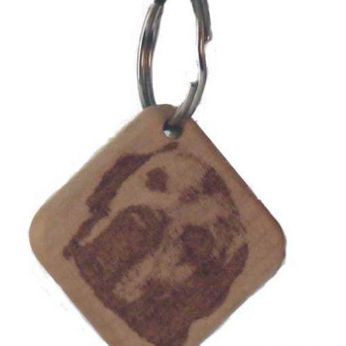 Schlüsselanhänger mit einer Fotogravur , lasergraviert