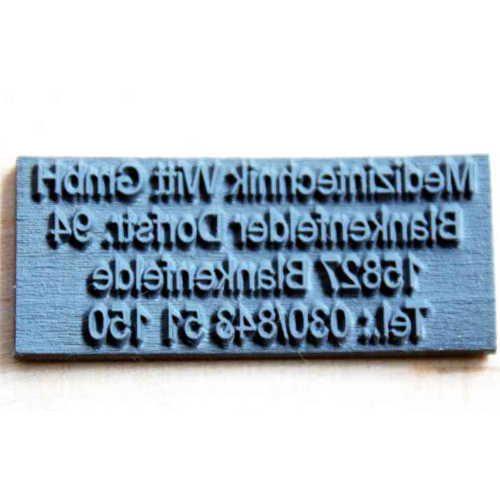 Textplatte für Trodat Printy Stempel